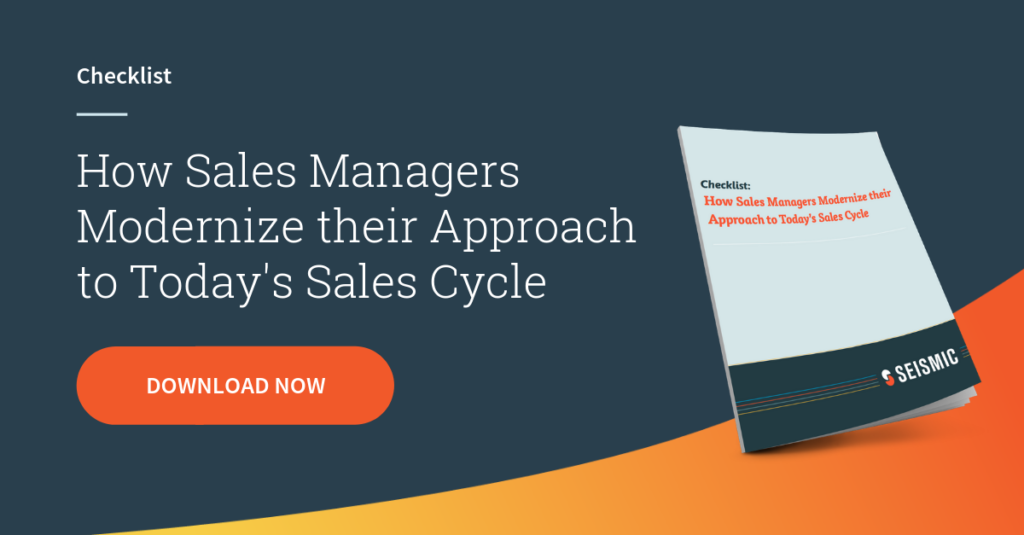 [Checklist] How Sales Managers Modernize their Approach to Today's Sales Cycle