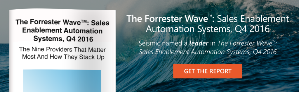 You've Read The Forrester Wave ™: Sales Enablement Automation Systems, Q4 2016 – Now What?