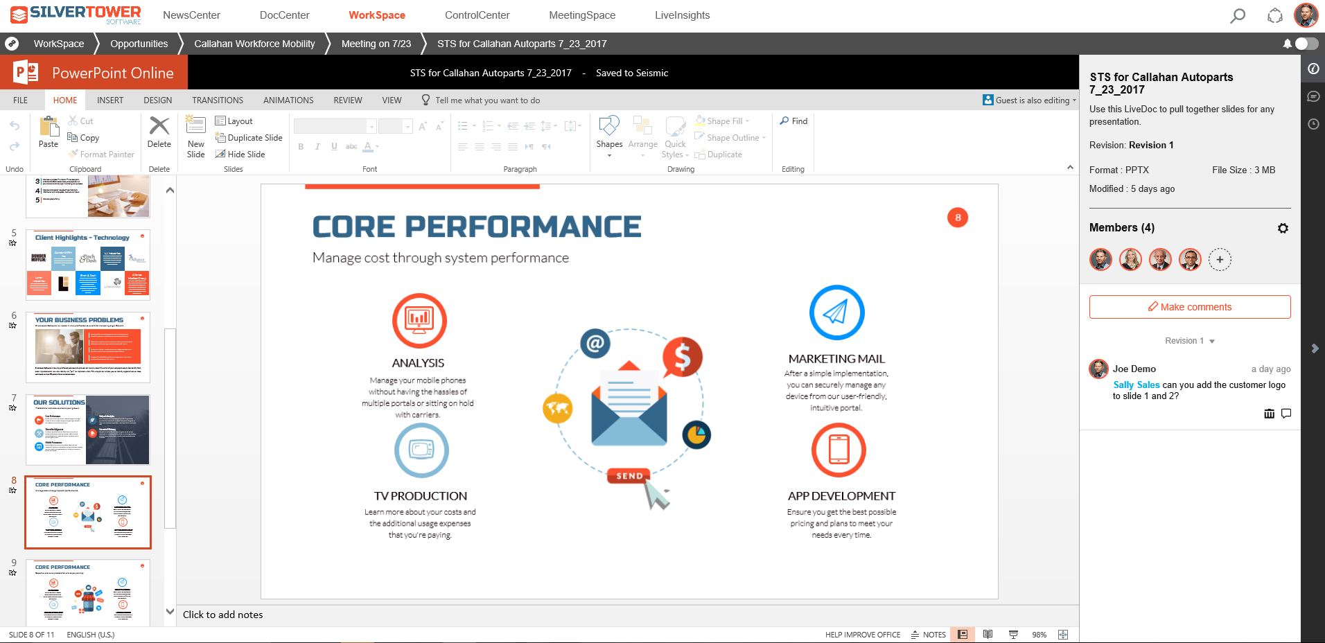 microsoft office suite integration seismic sales enablement