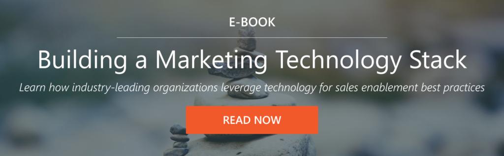 sales enablement marketing teck stack