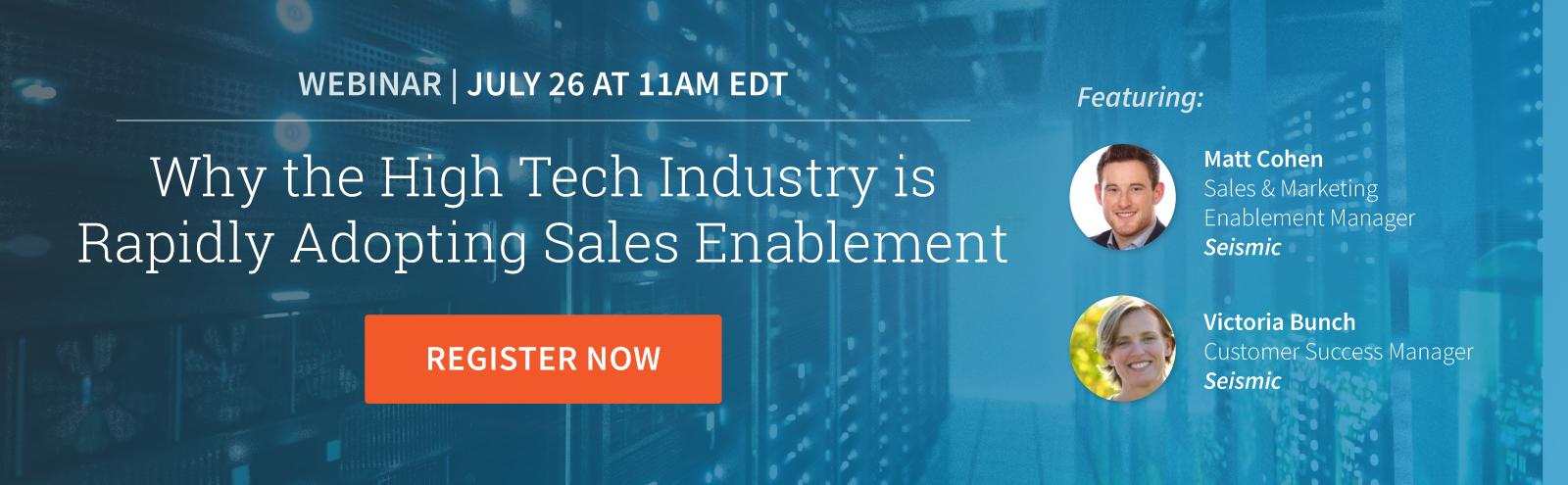 high tech sales enablement