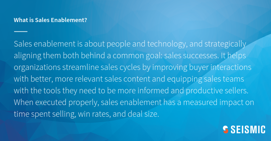 sales enablement defined