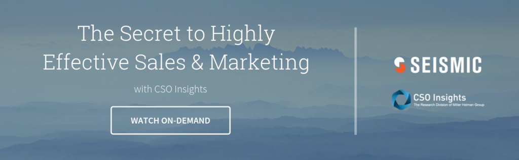 Watch On-Demand - The Secret to Highly Effective Sales & Marketing