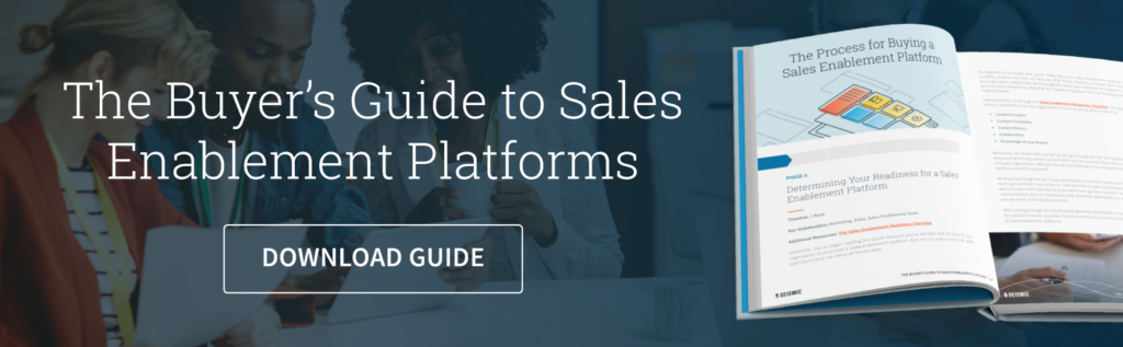 sales enablement buyer's guide