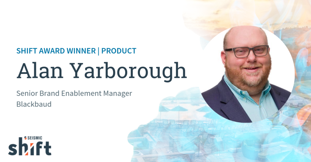 Introducing the 2019 Shift Award Winners: Alan Yarborough, Blackbaud