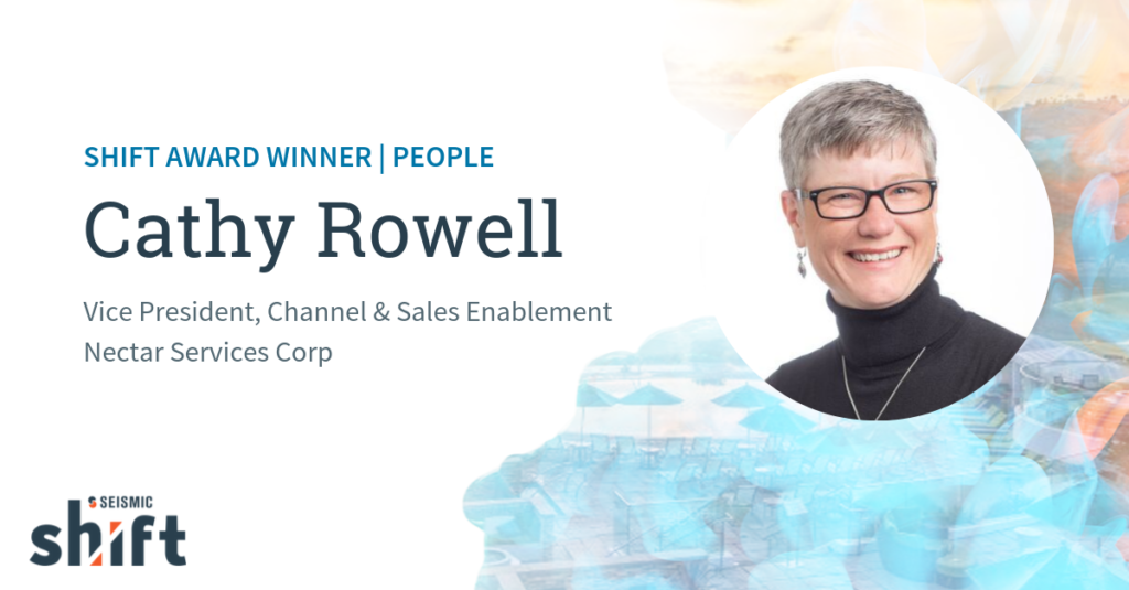 Meet Cathy Rowell, Seismic's 2019 Shift Award Winner for People