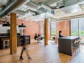 Interior of Boston office.