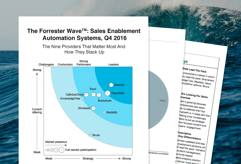 Seismic a Leader in the Forrester Wave: Sales Enablement Automation Systems, Q4 2016