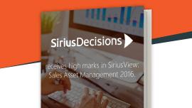SiriusDecisions SAM report